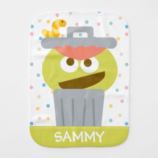 Baby Oscar the Grouch | Add Your Name Burp Cloth
