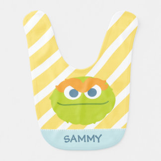 Baby Oscar the Grouch Big Face | Add Your Name Bib