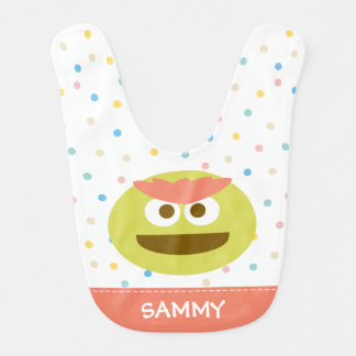 Baby Oscar the Grouch Face | Add Your Name Bib