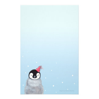Baby Penguin in a Party Hat Kids Stationery
