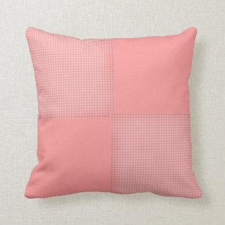 Baby Pink Gingham Cushion