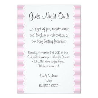 Baby Pink Girls Night Out Invitation