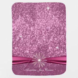 Baby Pink Glitter Design Baby Blanket