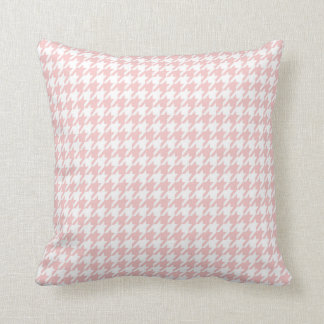 Baby Pink Houndstooth Cushion