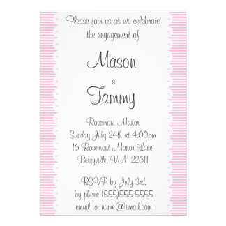 Baby Pink Pinstripes Engagement Party Invitation