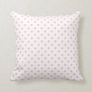Baby Pink Polka Dots Throw Cushion