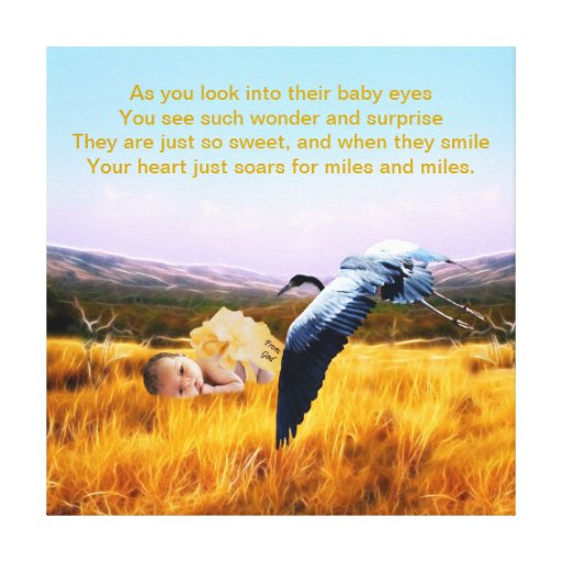 Baby poem gallery wrapped canvas