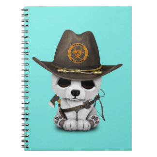 Baby Polar Bear Zombie Hunter Notebook