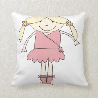 Baby Prima Ballerina Throw Pillow