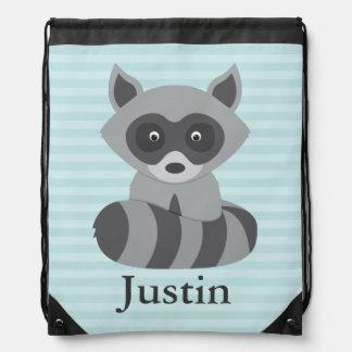 Baby Raccoon Drawstring Bag