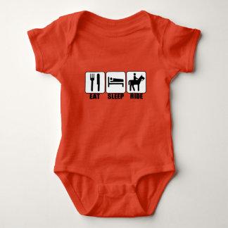 Baby Rider Eat Sleep Ride a Horse Cute Equestrian Baby Bodysuit