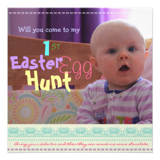 Baby s 1st East Easter Egg Hunt Party Invitation