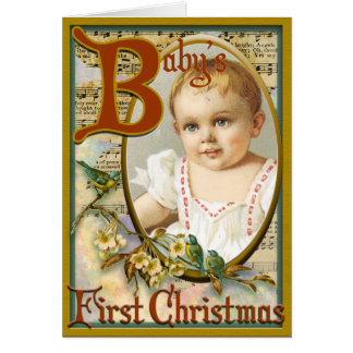 Baby s first christmas greeting card