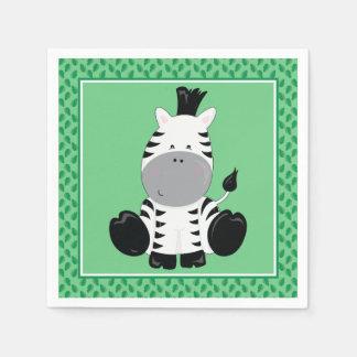 Baby Safari Animals | Zebra Paper Napkin