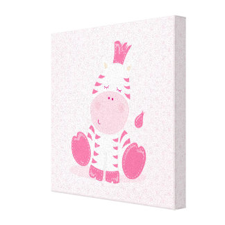 Baby Safari Pink Sleepy Zebra Nursery Art Gift Canvas Prints