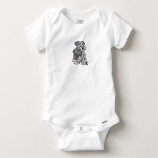 Baby Scrappy Miniature Schnauzer Baby Onesie