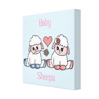 baby sheeps canvas print