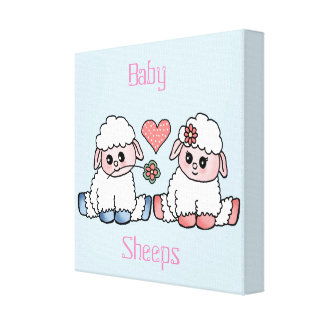 baby sheeps canvas prints