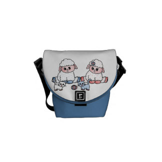 baby sheeps commuter bag
