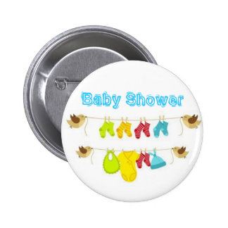Baby Shower 6 Cm Round Badge
