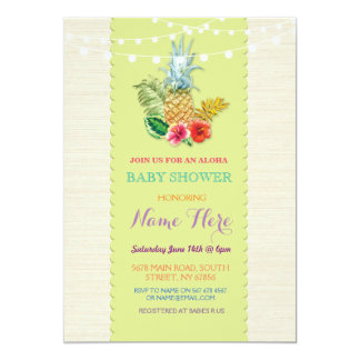 Baby Shower Aloha Luau Pineapple Invite