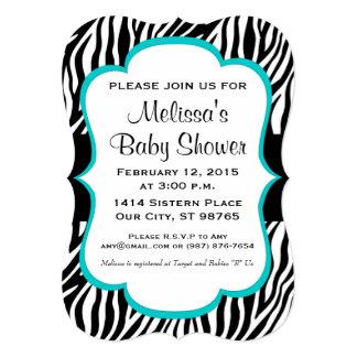 Baby Shower, Baby Sprinkle, Custom Invite, Zebra Card
