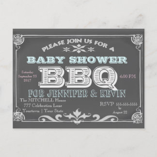 Baby Shower | BBQ | Chalkboard
