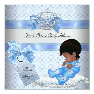 Baby Shower Boy Blue Little Prince Bunnies Card