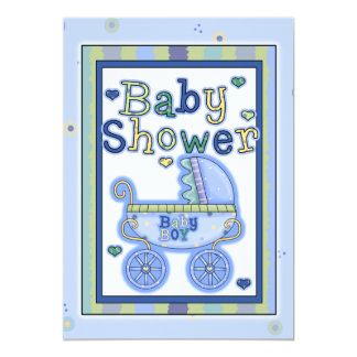 Baby Shower Boy Invitation Card