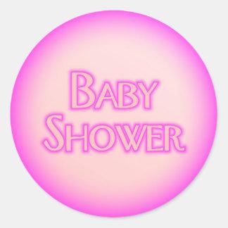 Baby Shower Bubble Round Sticker
