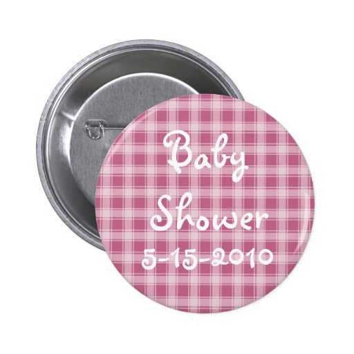 Baby Shower button with your shower date