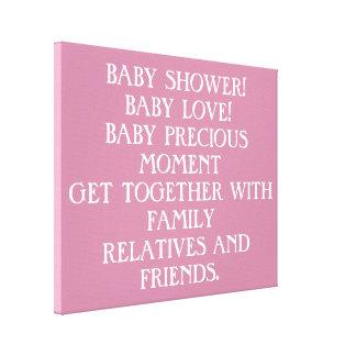 baby shower canvas print