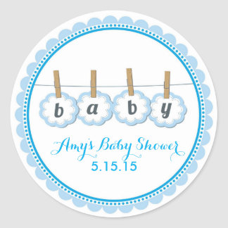 Baby Shower Clothesline Stickers