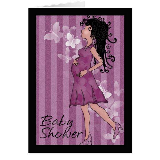 Baby shower cute pregnant Mom Card