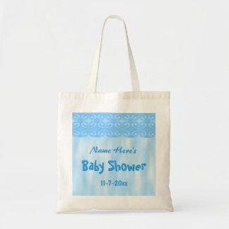 Baby Shower Design in Blue Tote Bag