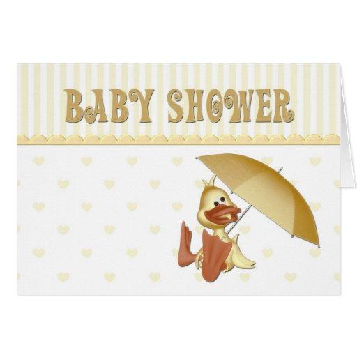 Baby Shower Duck Invitation Card