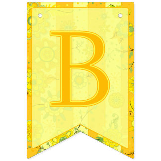 Baby Shower Elephant Flowers Yellow Swallowtail Bunting