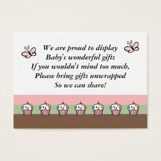 Baby Shower Enclosure Cards