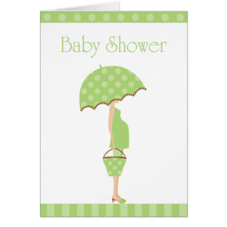 Baby Shower Folded Card Invitation