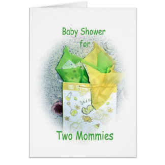 Baby Shower for two mommies to be Invitation Greeting Card