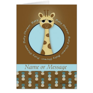 Baby Shower Giraffe Template