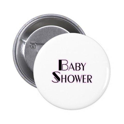 Baby Shower Girl Pinback Button