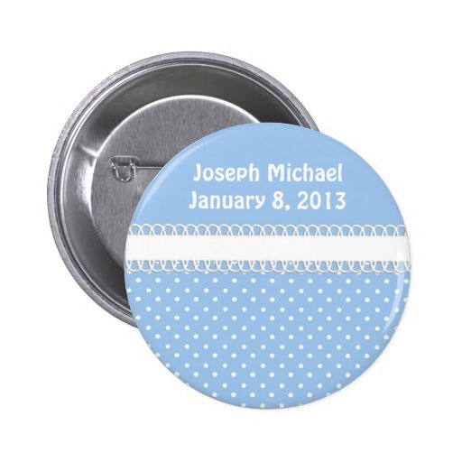 Baby Shower in Blue Buttons