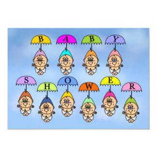 Baby Shower Invitation - Shower Umbrellas