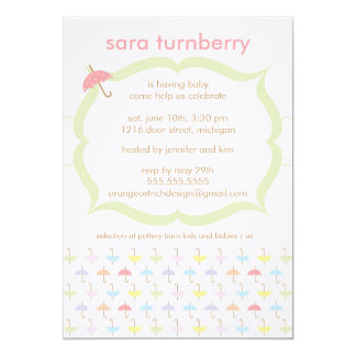 Baby Shower Invitation - Umbrella