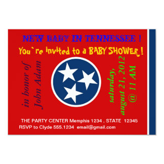 Baby Shower Invitation with Flag of Tennessee
