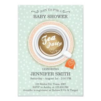 Baby Shower invite Tea party High tea invitation