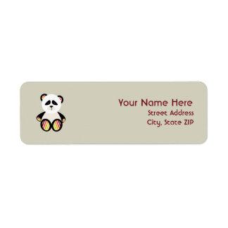 Baby Shower Label - Striped Panda