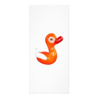 Baby Shower Orange duckling Personalised Rack Card