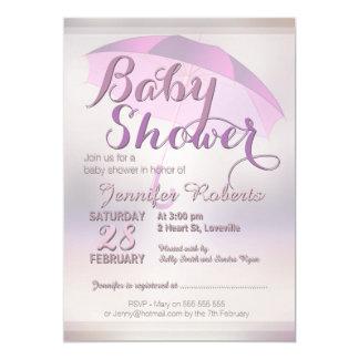 Baby Shower | Pastel Glow w/Umbrella Pink Card